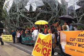 Protesters petition Amazon to stop selling technology to ICE Read more at
