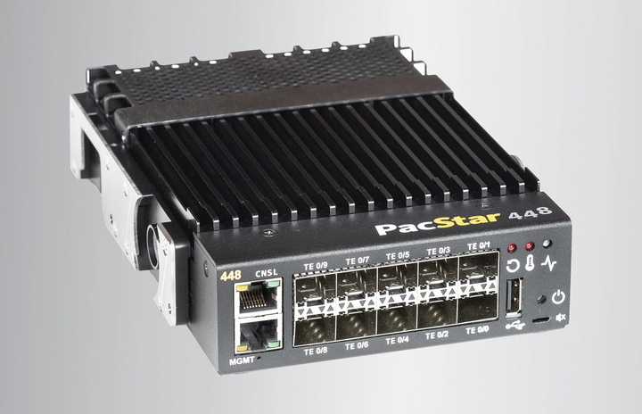 10-Gigabit Ethernet switch for military and intelligence tactical networking introduced by Curtiss-Wright