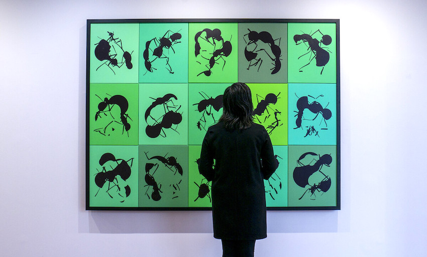Ant art: The exhibition of paintings created entirely by artificial intelligence