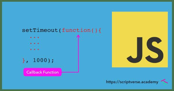 What is callback function in JavaScript?
