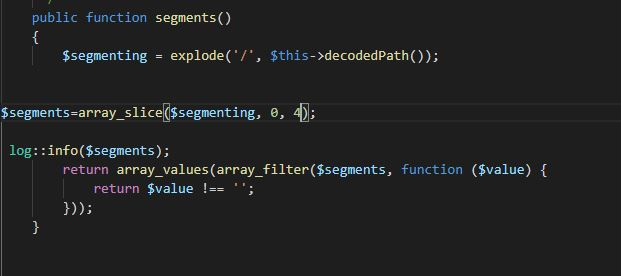 How to get a Particular aliments of array using slice method in Laravel