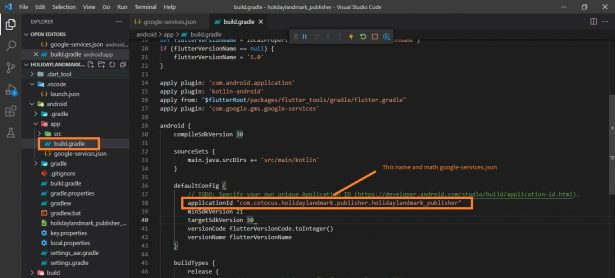 Execution failed for task':app:processDebugGoogleServices'.> No matching client found for package name'com.cotocus.holidaylandmark.publisher.holidaylandmark_publisher'   android studio-SOLVED